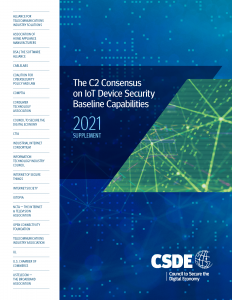 The C2 Consensus on IoT Device Security Baseline Capabilities - 2021 Supplement